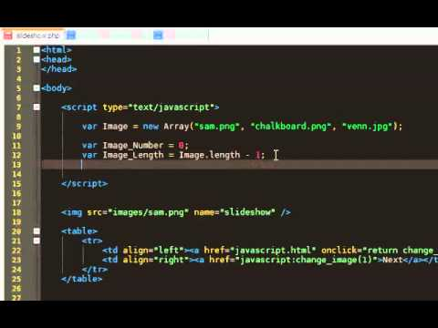 How to make a simple Javascript Slideshow
