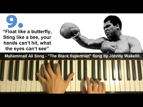 "TOP 10 Muhammad Ali Legendary Quotes   ""The Black Superman"" (Piano Cover)"
