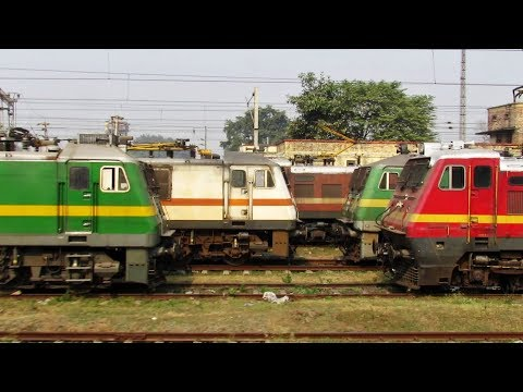 Mughalsarai ELECTRIC TRIP SHED - Indian Railways !!