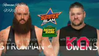 WWE Summer Slam Match Card and Result Prediction