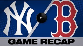 Yankees Set New Franchise HR Mark In Win Yankees Red Sox Game Highlights 9 8 19