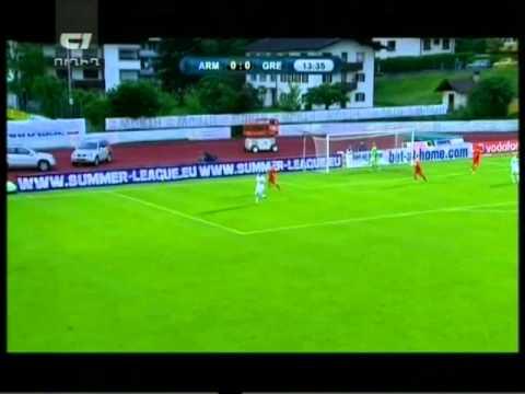 товарищеский матч Греция-Армения 1-0 1-ый тайм