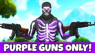 i ONLY used purple weapons with og purple skull trooper!! (very hard)