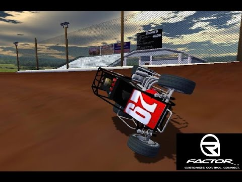 rFactor - USAC Midgets - I-30 Speedway (In Car View)