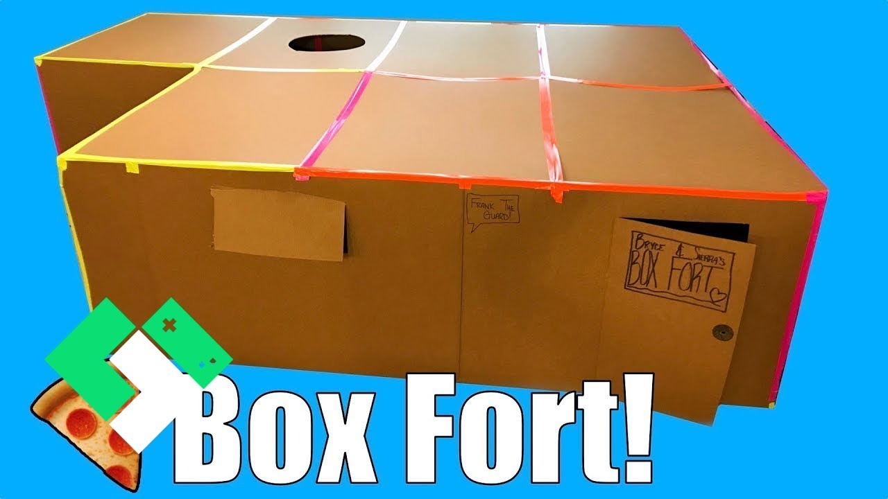 Kids Build First Box Fort Box Fort Pizza Party Clintus Tv Youtube