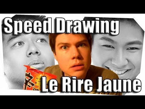 speed drawing le rire jaune youtube. Black Bedroom Furniture Sets. Home Design Ideas