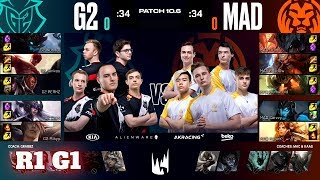 G2 Esports vs Mad Lions - Game 1 | Round 1 PlayOffs S10 LEC Spring 2020 | G2 vs MAD G1