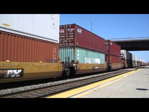 Westbound Union Pacific stack train in Berkeley, CA - 4 July 2015