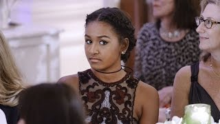 Where Was Sasha Obama During President Barack Obama