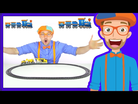 Thumbnail: Trains for Children by Blippi | The Train Song