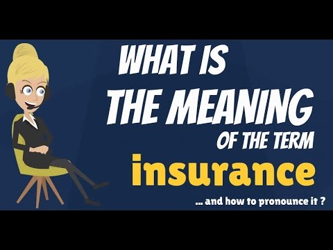 What is INSURANCE? What does INSURANCE mean? INSURANCE meaning, definition & explanation