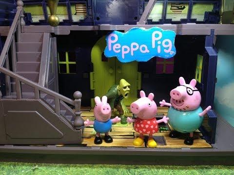 PEPPA PIG Nickelodeon Peppa Pig Spooky Haunted Mansion Toys Video Parody