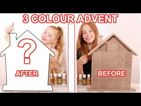 TWIN TELEPATHY 3 COLOR PAINT *DIY Advent Calendar Makeover Challenge | Sis Vs Sis | Ruby And Raylee