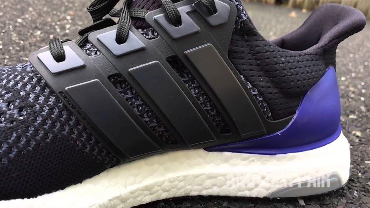 adidas ultra boost black purple gold