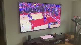 VAVA 4K Laser Projector | Daytime Watching Sports In Living Room