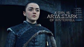 a girl is Arya Stark of Winterfell