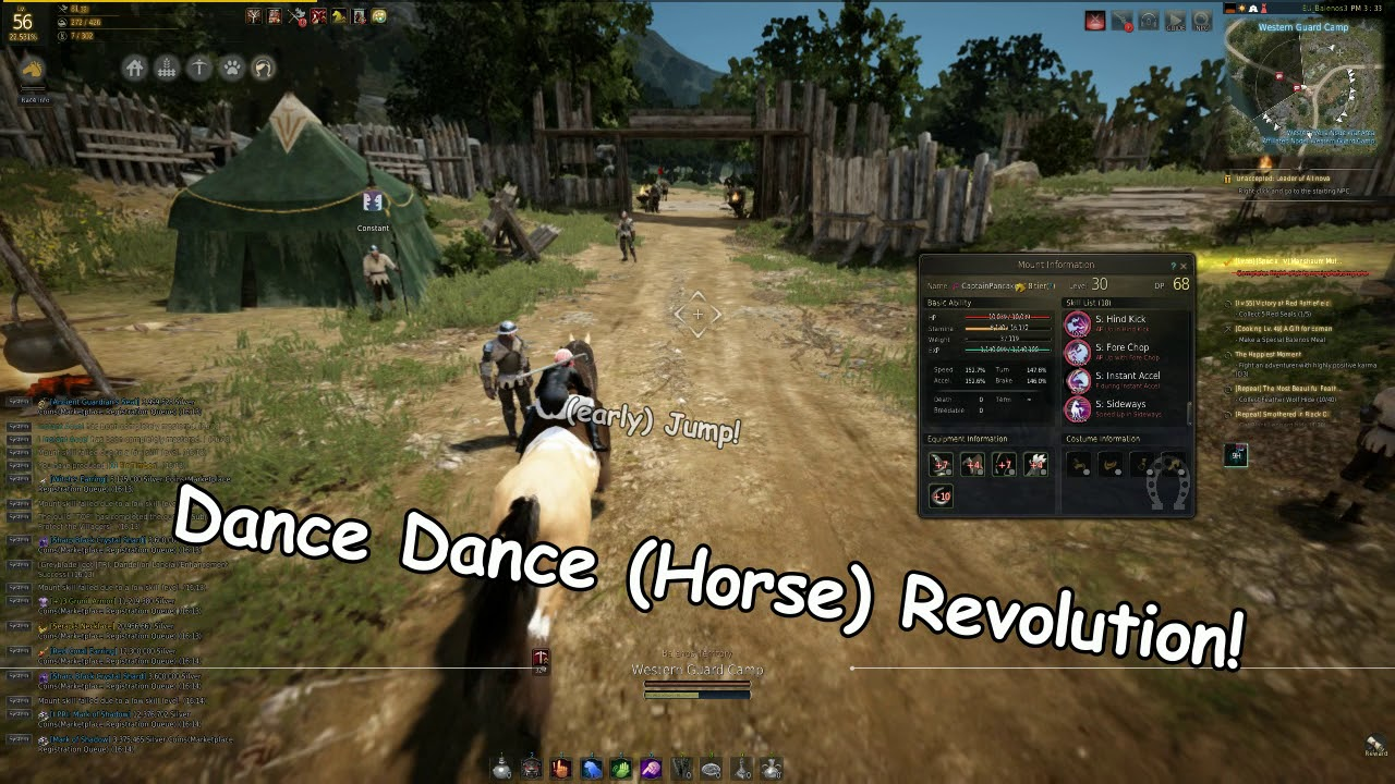 Black Desert - Instant Accel and S: Instant Accel training trick