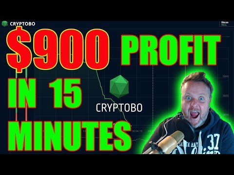$900 Profit In 15 Minutes! Trading Bitcoin With Cryptobo.