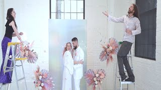 The modern disco themed wedding of your dreams at Asterisk in Denver, Colorado!
