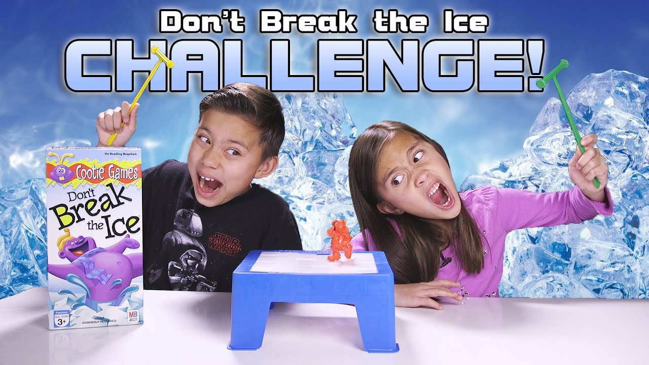 DONT BREAK THE ICE CHALLENGE! Kids Game Night with REAL ICE!