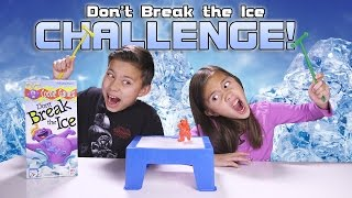 Repeat youtube video DON'T BREAK THE ICE CHALLENGE! Kids Game Night with REAL ICE!