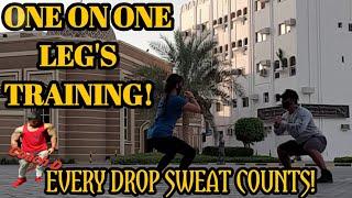 OUTDOOR 1 ON 1 LEG'S WORKOUT - Coach D / vlog #54