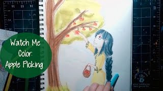 WATCH ME COLOR! Apple Picking