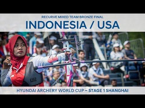 Indonesia v USA – Recurve mixed team bronze   Shanghai 2018 Hyundai Archery World Cup S1