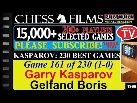 Kasparov: 230 Best Games (#161 of 230): Garry Kasparov vs. Gelfand Boris