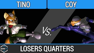 lssd 93 b2s tino fox vs coy sheik ssbm losers quarters smash melee