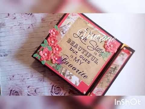 Wedding scrapbook/Diy scrapbook/Anniversary scrapbook for husband/die cut scrapbook/vintage