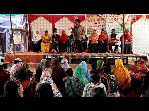 Amulya LEONA Speech Shaheen Baagh In Davangere,DAY3