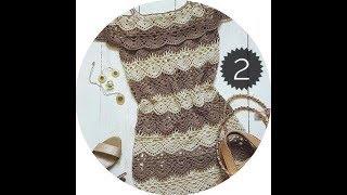вязаное платье крючком на любой размер для начинающих вязальщиц, женское платье крючком