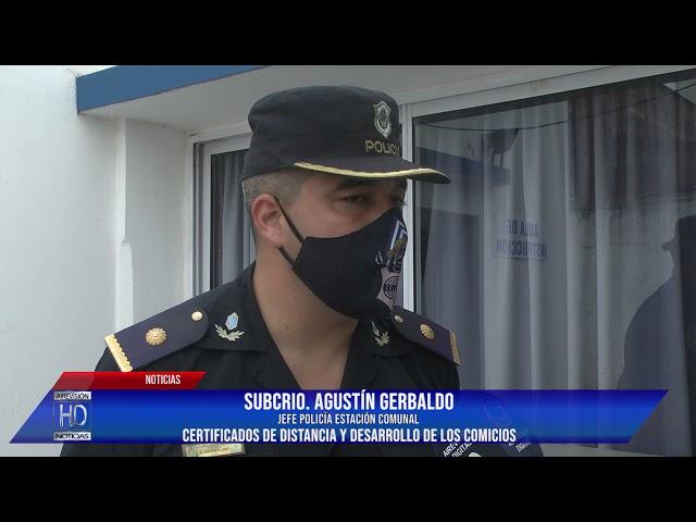 SubCrio Agustín Gerbaldo Certificados de distancia