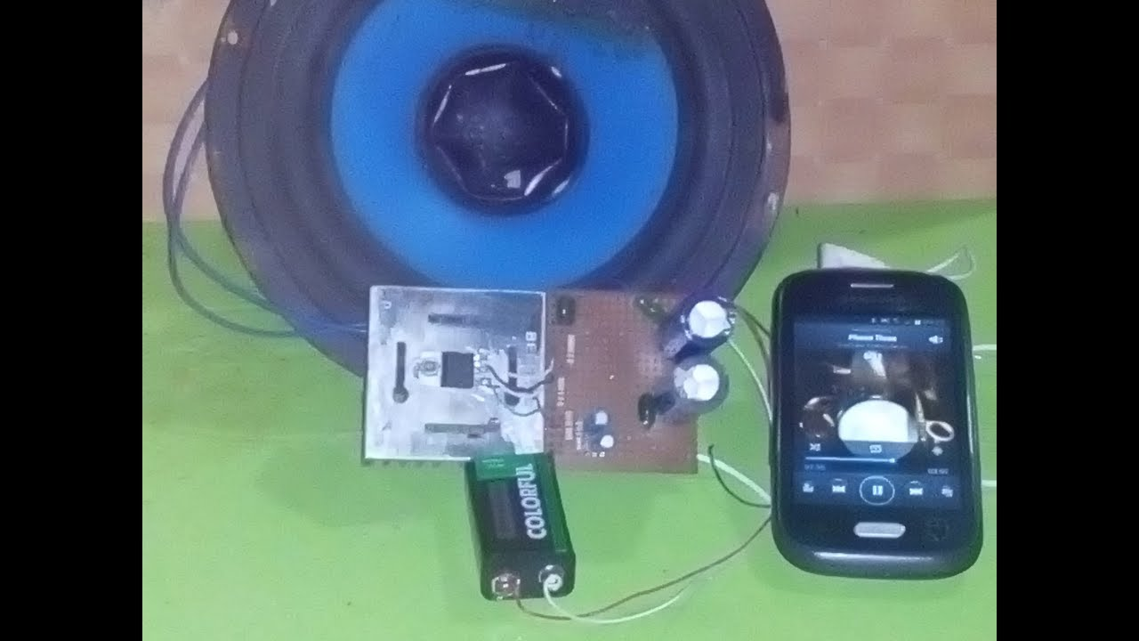 Simple Amplifier 50 Wat By Tda2050 Youtube 20 Watt Stereo Audio Using Tda2005 Circuit Diagram