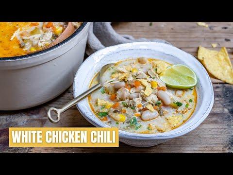 How To Make The Best White Chicken Chili - Easy White Chicken Chili Recipe - Blondelish