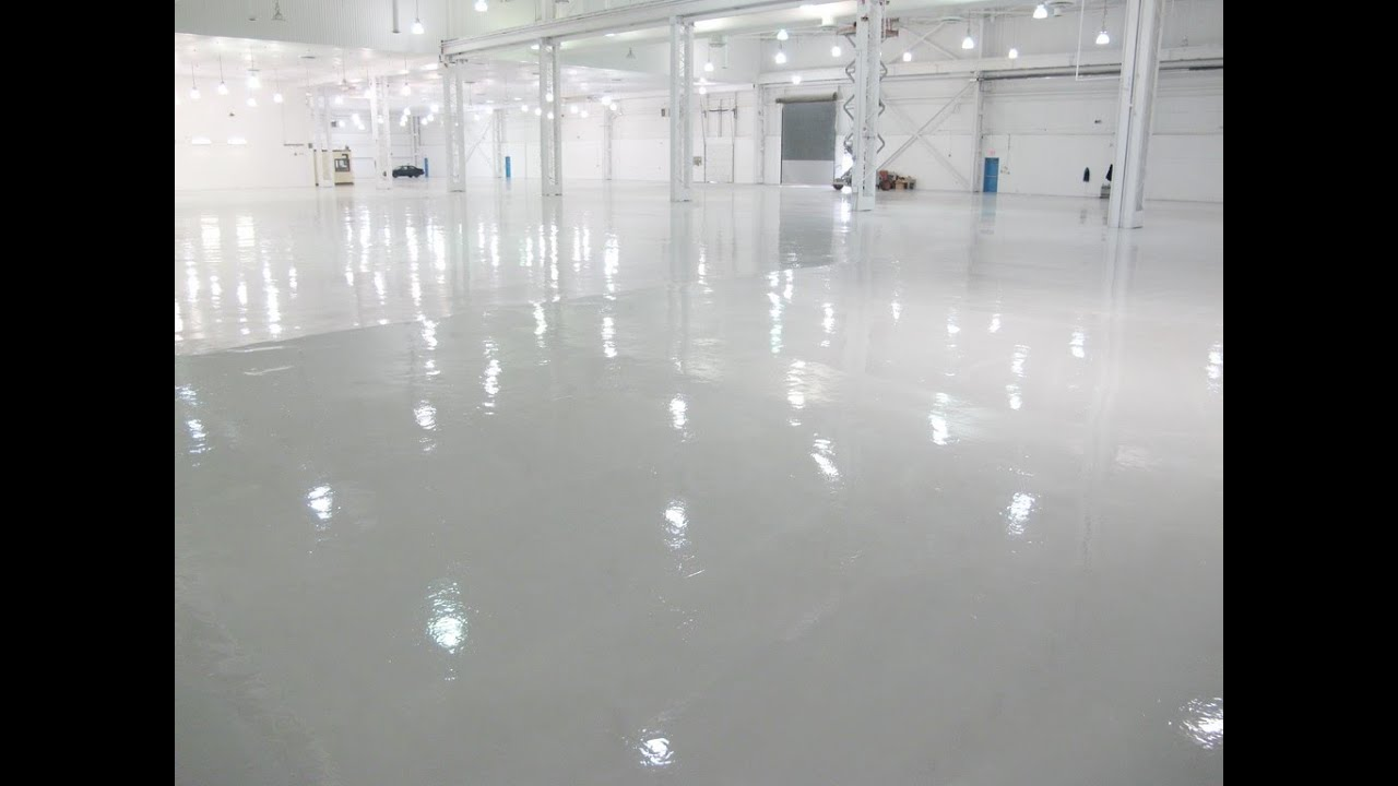 Epoxy floor coating installation youtube epoxy floor coating installation solutioingenieria Gallery