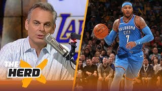 Colin on reports Houston is 'determined' to get Melo, Philly's pursuit of LeBron   NBA   THE HERD