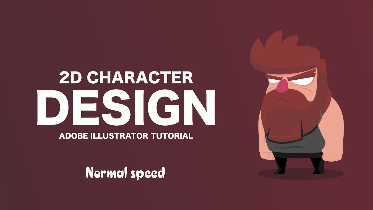 Adobe Illustrator Essentials For Character Design : Simple d character design tutorial adobe illustrator