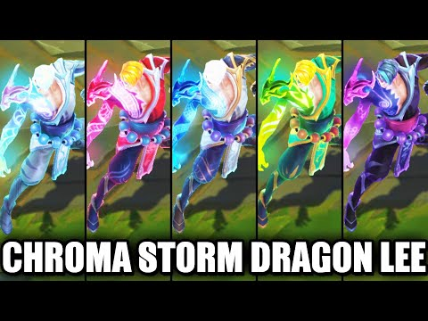All Storm Dragon Lee Sin Chroma Skins Spotlight (League of Legends)