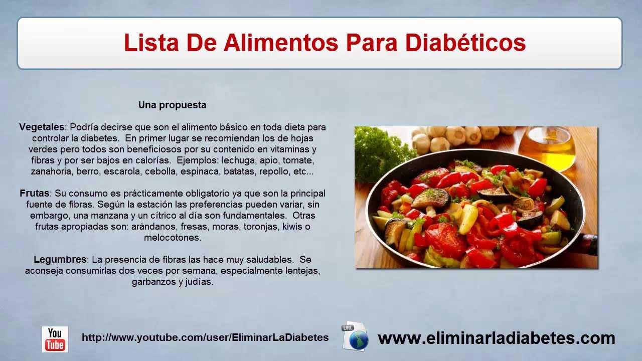 lista de comidas para diabeticos lista de alimentos para