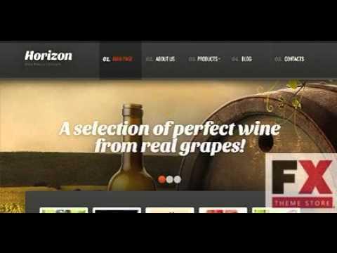 Preview Black Winery WordPress Theme By Mira TMT