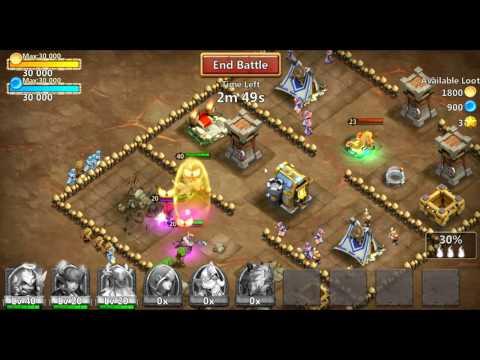 Castle Clash Michael Gameplay (the New Pumpkin Duke!)