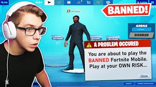 I played the BANNED Fortnite Mobile...