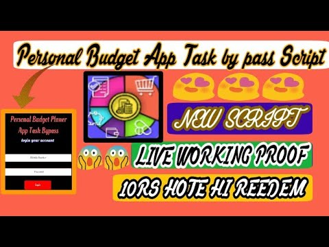 personal budget app task by pass script new online script