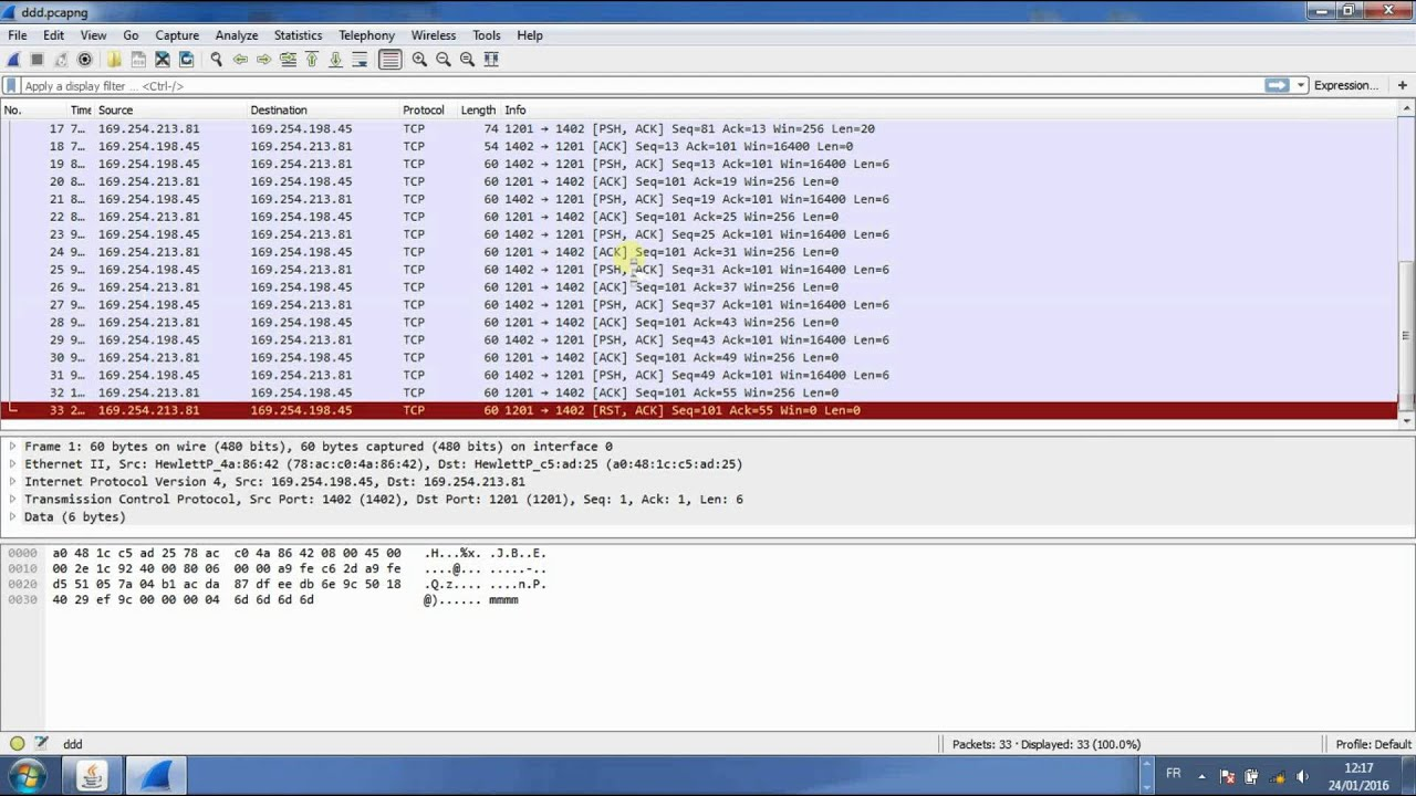 Chat Client Server and analysis with WireShark - Nagle Algorithm
