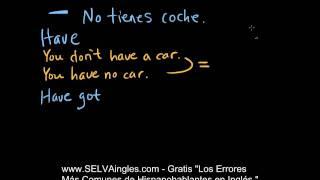 HAVE y HAVE GOT en Inglés