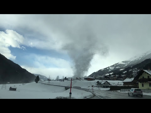Tornado/Gustnado in Österreich (Stall im Mölltal) Austria