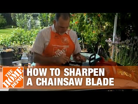 How To Sharpen A Chainsaw Blade The Home Depot Youtube