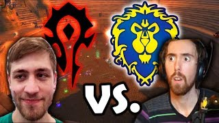 First Horde vs. Alliance Battle In STV In Classic - Asmongold Faces Off Against Sodapoppin